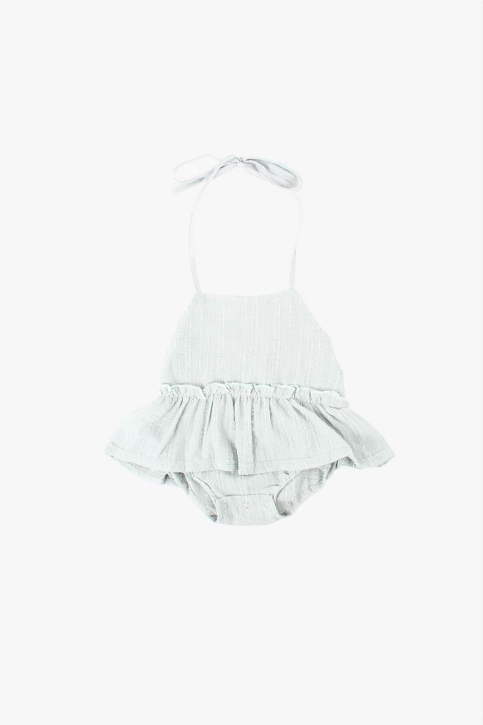 Ruffle Playsuit Mint